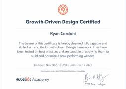 Hubspot Growth-Driven Design Certificate