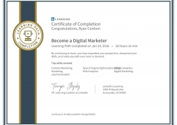 LinkedIn Digital Marketing Certificate