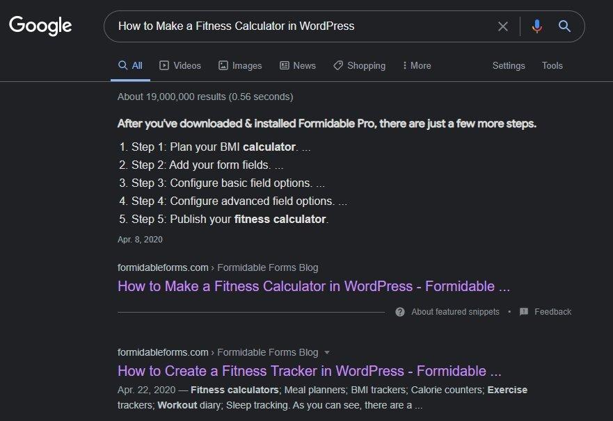 fitness-calculator-wordpress