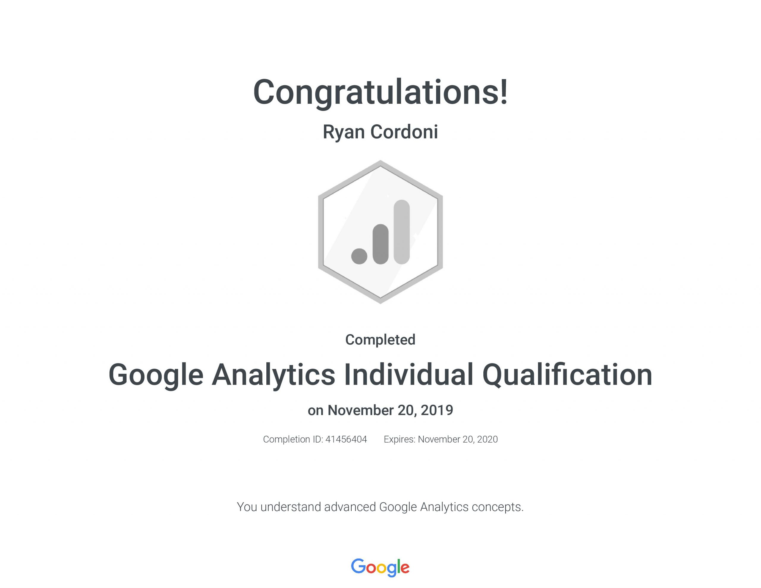 Google Analytics Certificate
